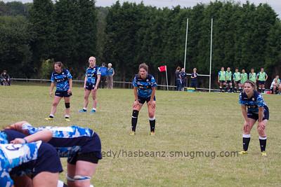 Scotland back line, L to R Eilidh Sinclair, Megan Gaffney, Helen Nelson, Lisa Martin