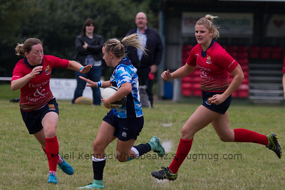 Chloe Rollie with the ball