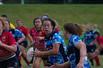 Caroline Collie with the ball