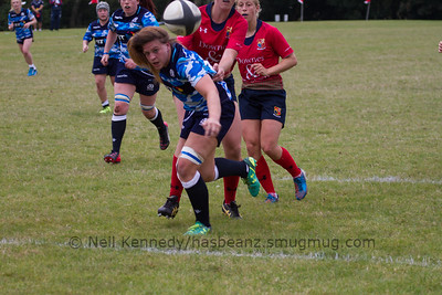 Jemma Forsyth blocked a Lichfield clearance kick and closed in to score a try