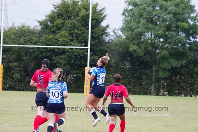 Caroline Collie catches a high kick