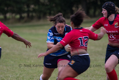 Tracy Balmer with the ball