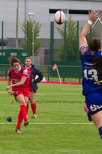Jodie Evans takes the conversion kick