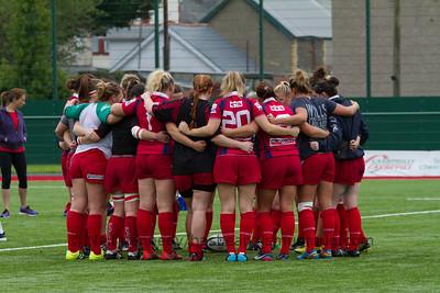 Scarlets pre-game huddle