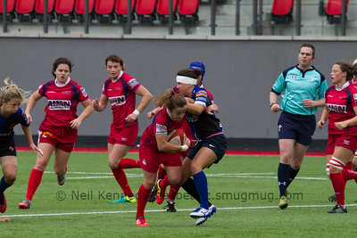 Elen Evans on the charge