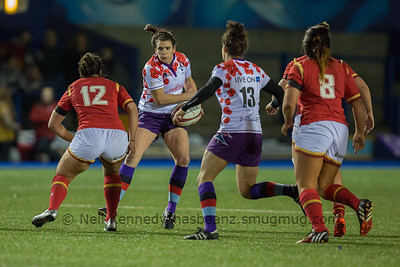 Carrie Roberts catches a kick