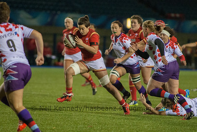 Sioned Harries drives forward
