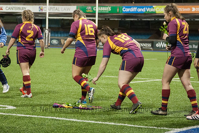 Cardiff Met University v Loughborough University, BUCS QF, 3rd March 2017, Cardiff Arms Park, Cardiff, Wales