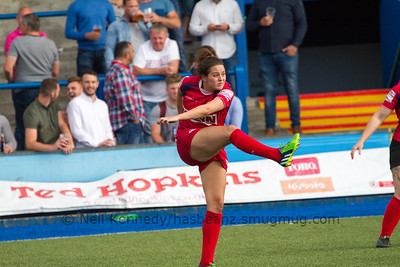 Jodie Evans kicking