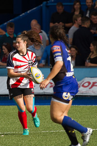 Robyn Wilkins with the ball