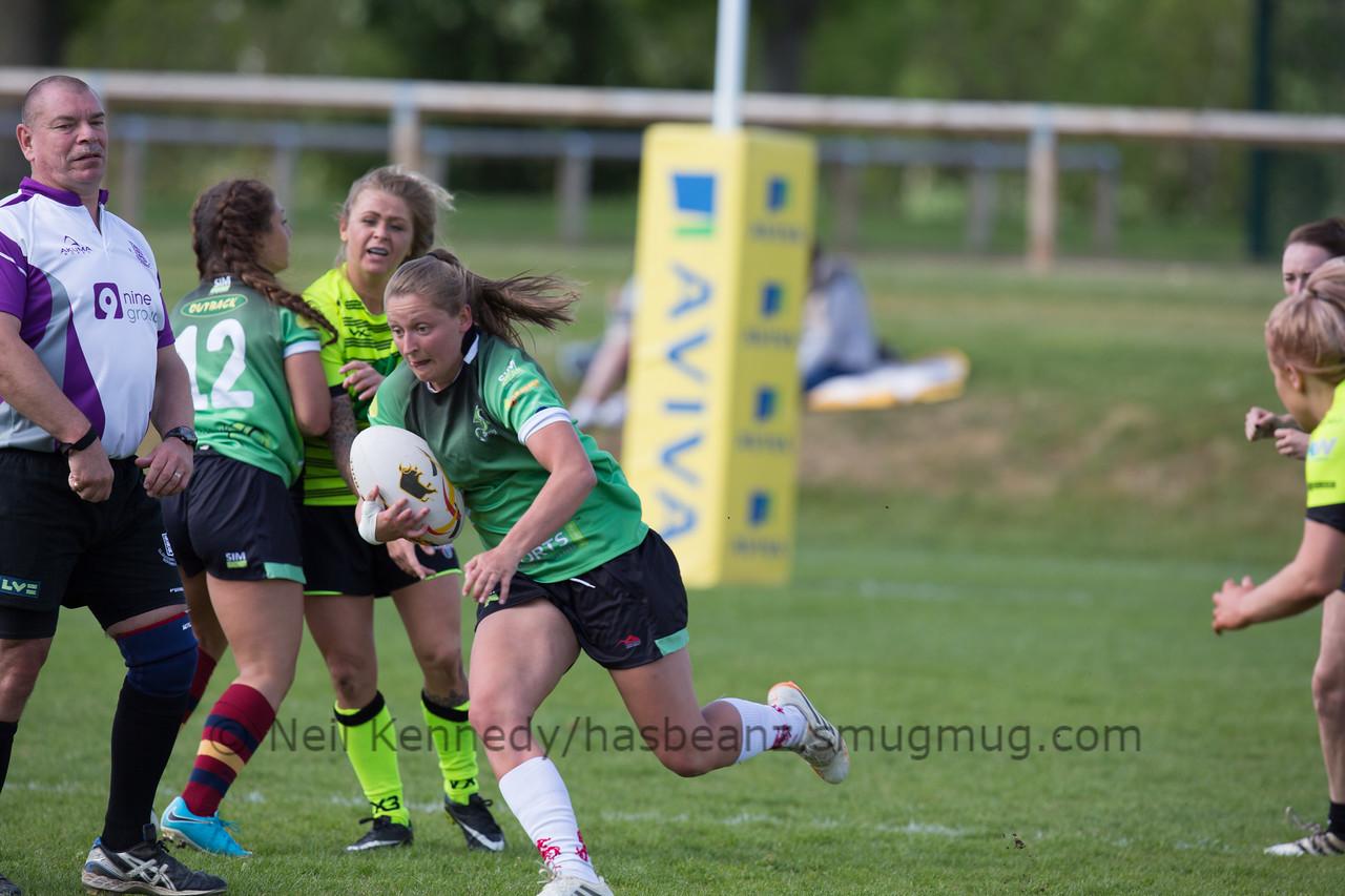 Joanne Jones with the ball