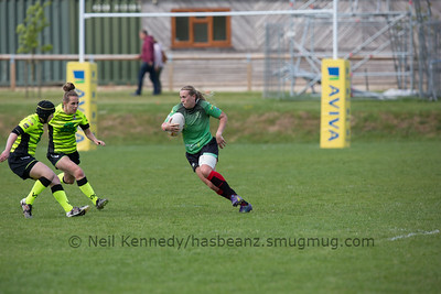 Elin Huxtable with the ball