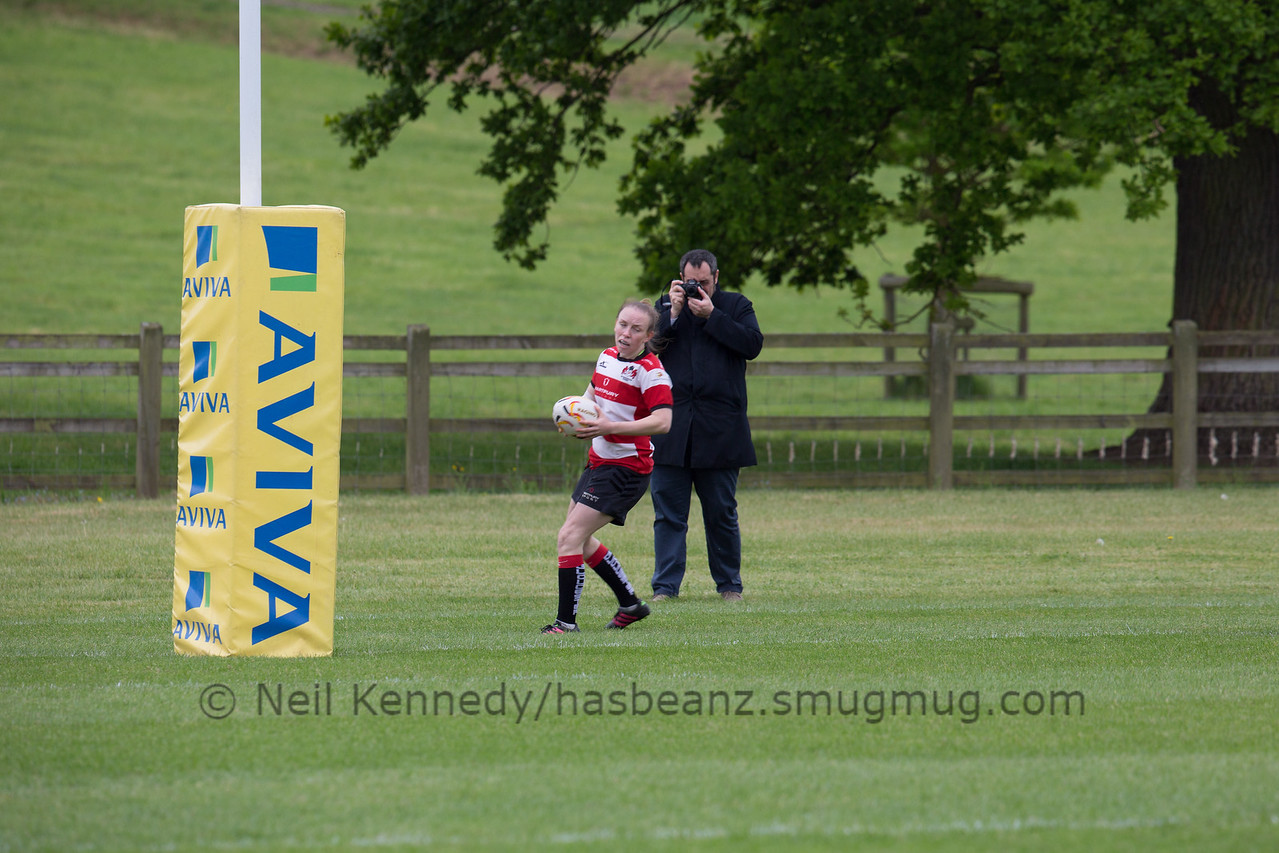 Mary-Ann Gittings about to touch down a try