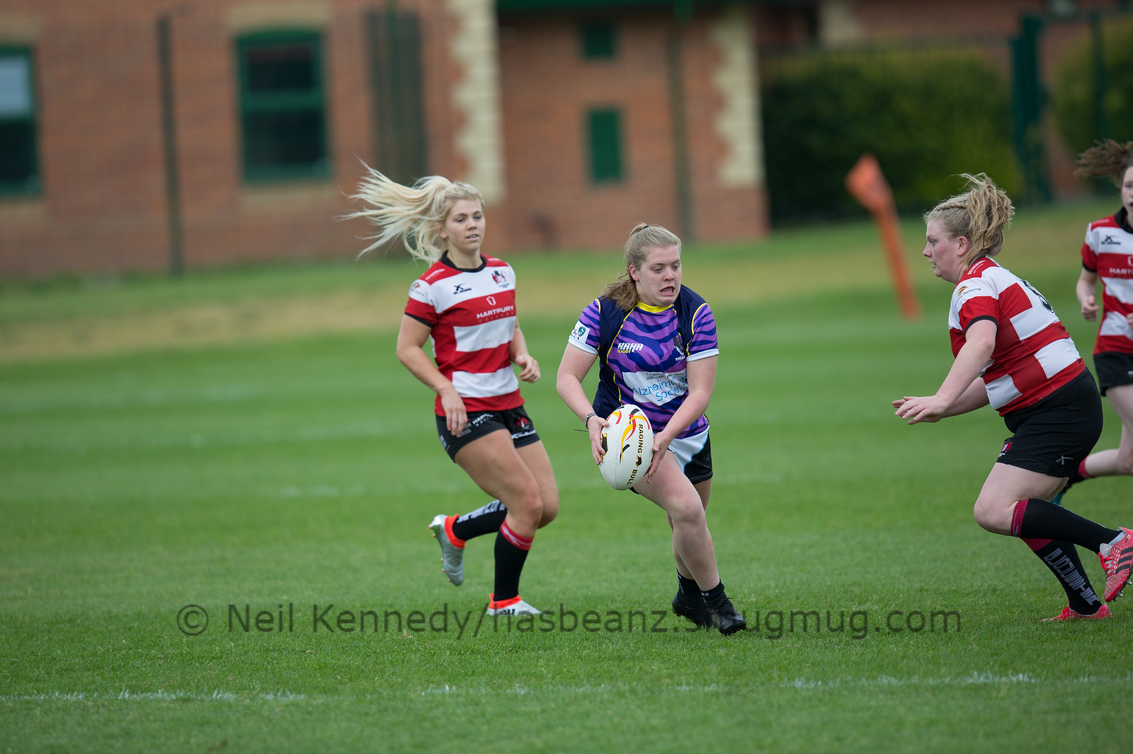 Daisey Fahey with the ball