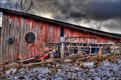 Farmshed in Winter