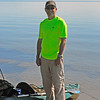 Jim ready to start the great river adventure - Lake Mille Lacs the start of the Rum River.