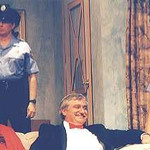 Joanne Wilson and Al Chopey as the police