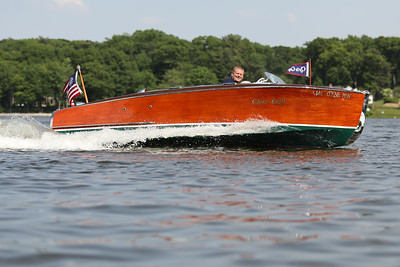 David and Paul De Horn, Bear Lake, Michigan, Rumour, 1941 Chris Craft 17ft. Deluxe Barrelback Runabout