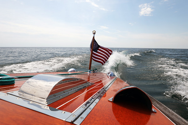 Lake Michigan, Muskegon, Michigan Rumour, 1941 Chris Craft 17ft. Deluxe Barrelback Runabout