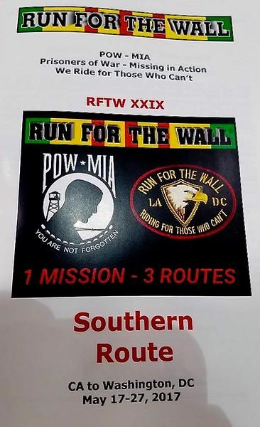 Run 4 the Wall - May 25-29, 2017