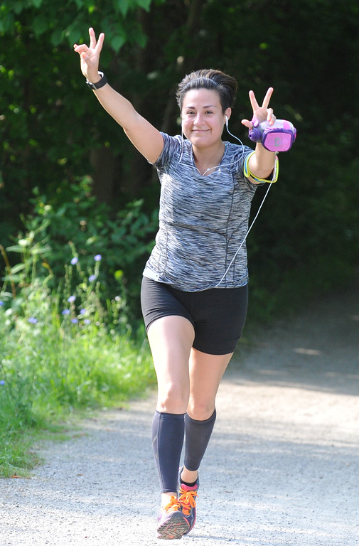 . Marianna Martinez of Troy runs the 10K as part of the Rochester Run Michigan Cheap event  held on Sunday July 16, 2017.  Over 170 entrants took part in the 5K, 10K and 1/2 marathons that were run on the Paint Creek Trail starting in Lake Orion.  (Digital First Media photo by Ken Swart)
