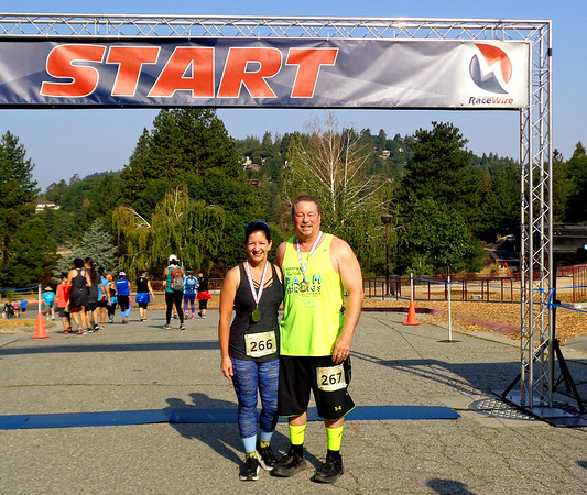 Run through the Pines 10K, Lake Gregory CA August 11, 2018
