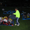 Bag drop collection area in the early morning
