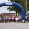 Nearing the start of the 29th Lakefront Marathon