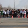 Gathering awaiting race start