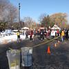 Runners gathering for start
