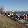 Runners gathering for the start