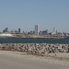Milwaukee skyline is the backdrop for the race start along with nice weather for a change!