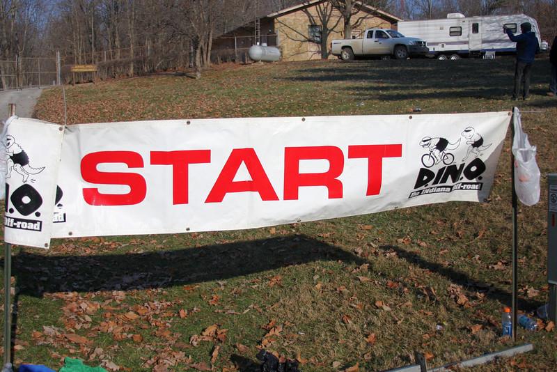 Start line for the 2009 Tecumseh Trail Marathon
