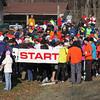 Nearing the start of the marathon