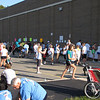 Registration and packet pickup at Wauwatosa East High School