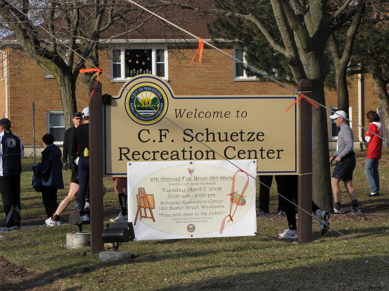 Packet pickup and race day registration at the C.F. Schuetze building