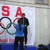 Brian Zalewski - Men's Half Marathon 3rd place receiving his award