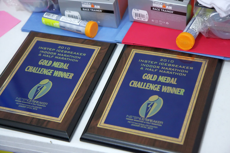Plaques awarded to the Gold Medal Challenge winners