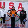 Julie Spencer - Women's Marathon winner<br /> Mary Flaws - Women's Marathon 2nd place<br /> Heather Kos - Women's Marathon 3rd place