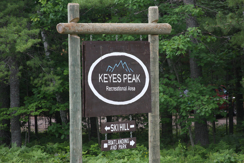 Race start and finish at the Keyes Peak Ski Lodge in Florence, WI
