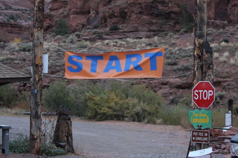 Start line for the full and half marathon