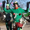 Waukesha Historic Downtown Santa Run/Walk : Waukesha, WI - Dec 10, 2011  Photos from the pre-race, start, in front of library and along river walk at southern end of Frame Park at Fox River near finish included sights by the river dam