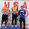Top three men - Marathon<br /> l-r: Matthew Jeromin (2nd place), Mac McCulley (1st place), Daniel Lauer-Schuma (3rd place)