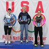 Top three women - Marathon<br /> l-r: Heather Kos (2nd place), Mary Flaws (1st place), Cristin Van Driel (3rd place)