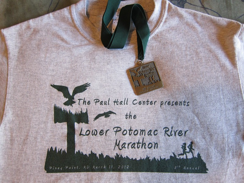 Race t-shirt and finisher medal.
