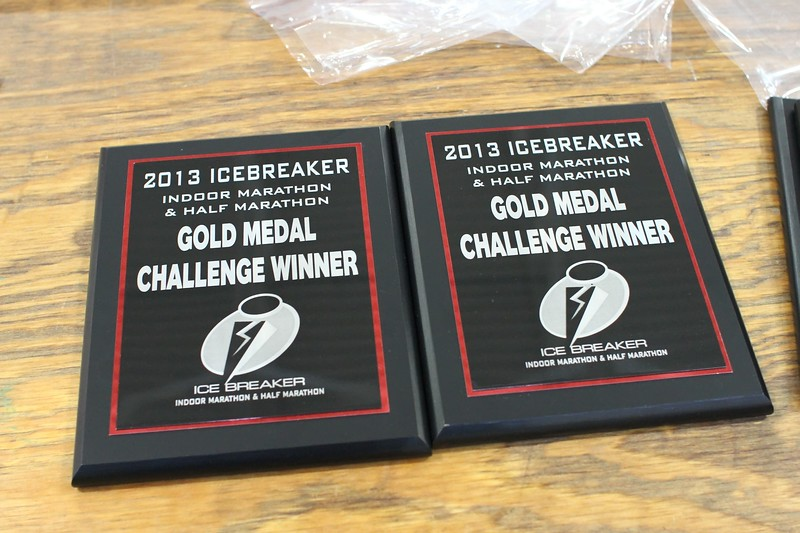 Gold Medal Challenge plaques.