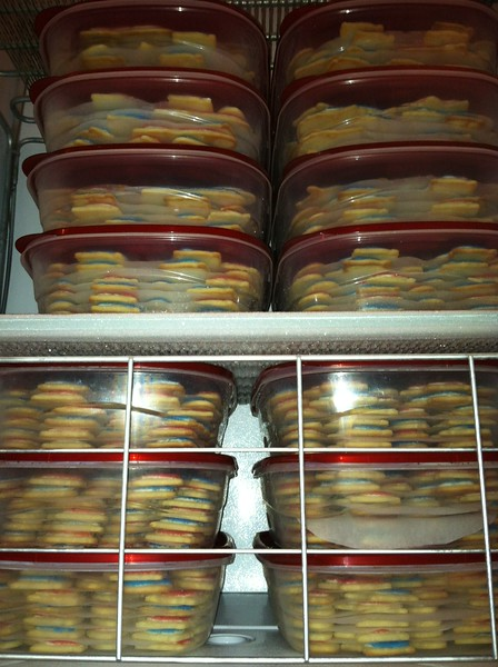 Stacks and stacks of RUSA cookies that were enjoyed by runners throughout the weekend.