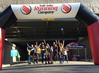 2015 Salt Lake City Marathon Disco Aid Station