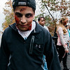 """Gabriel Colina joins other Leominster High """"zombies"""" to approach passing runners during the Running Dead 5K on Saturday afternoon. The Class of 2018 held the event in hopes of reaching their target revenue goal of $2,000. The money will be used to help cover graduation, prom and class gift costs. SENTINEL & ENTERPRISE / Ashley Green"""