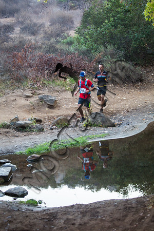 50K - Crossing the creek and downhill